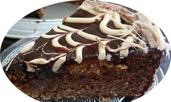 עוגת נוטלה, חלווה וקוקוס משוישת