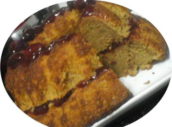 עוגת נס קפה במלית דובדבנים
