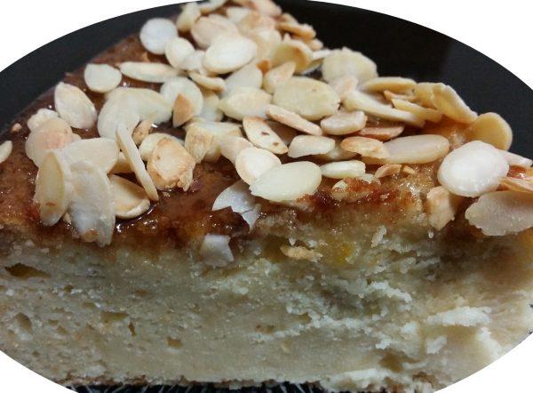 עוגת נפוליאון, שקדים ולימון בזיגוג מייפל בחושה
