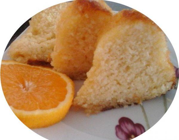 עוגת סולת גבינת שמנת בניחוח תפוזים