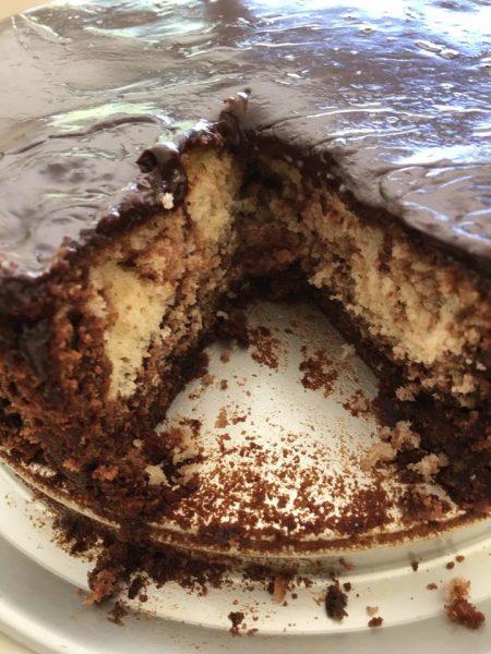 עוגת קוקוס ונוטלה מטריפה
