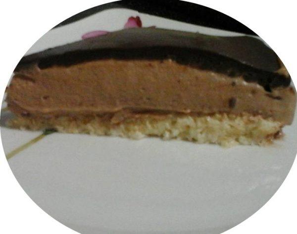 עוגת קוקוס מוס שוקולד נוטלה וגנאש