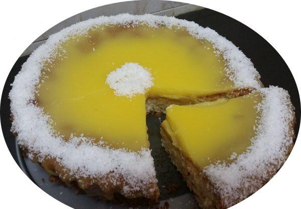 עוגת קוקוס עם קרם תפוזים
