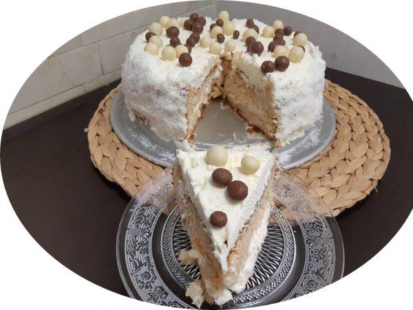 עוגת ריקוטה,שקדים וגזר