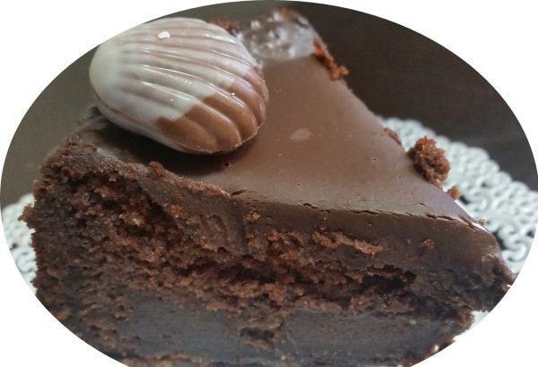 עוגת שוקולד חלווה בחושה