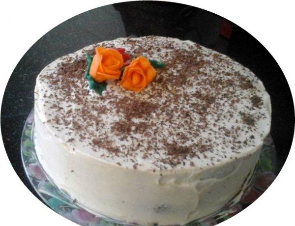 עוגת שוקולד עם קרם שוקולד