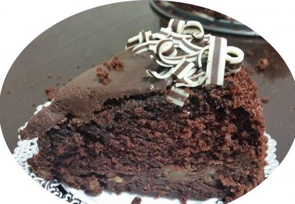עוגת שיפון קפה, שוקולד ותפוחי-עץ