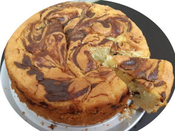 עוגת שיש,שקדים ושוקולד