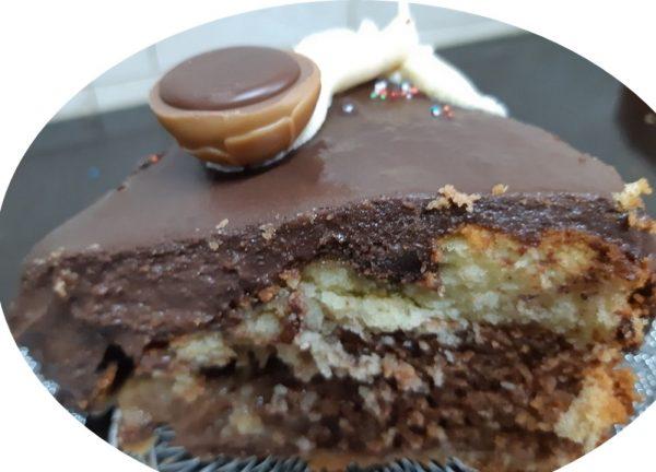 עוגת שיש נוטלה בציפוי גאנש
