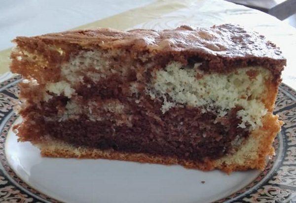 עוגת שיש רכה גבוהה