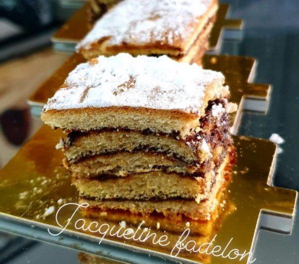 מתכון כתוב + סרטון להכנת עוגת שכבות שמרים בטעם קפוצ'ינו_זקלין פדלון