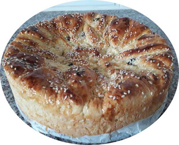 עוגת שמרים וגבינה