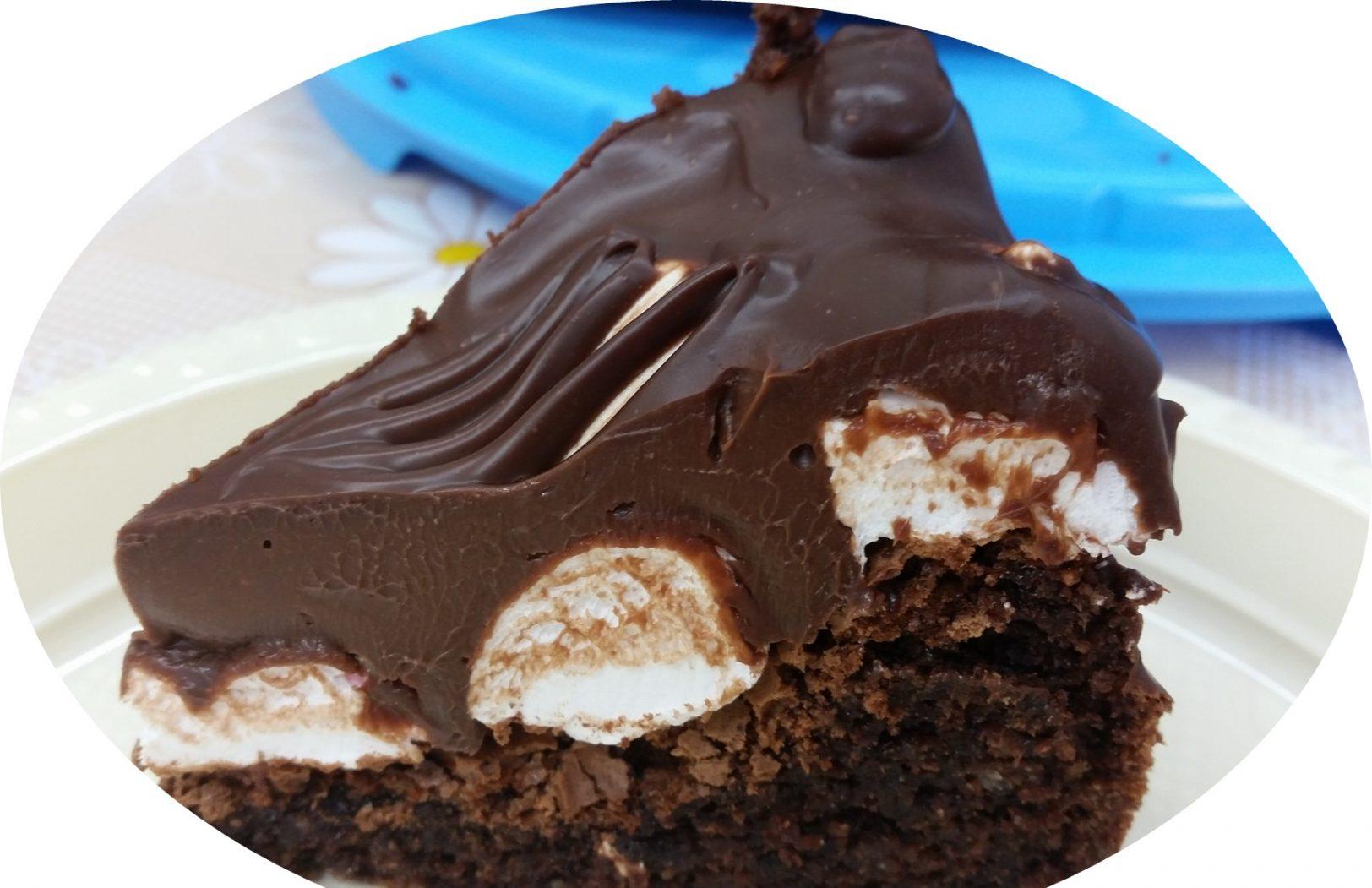 עוגת שקדים, שוקולד ומרשמלו