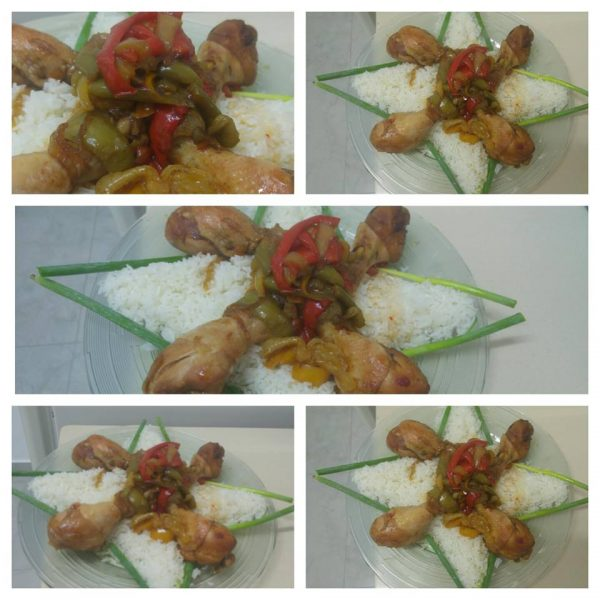 עוף עם ירקות בטריאקי