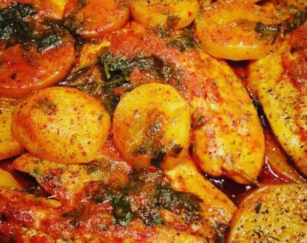 פילה מושט עם תפוחי אדמה