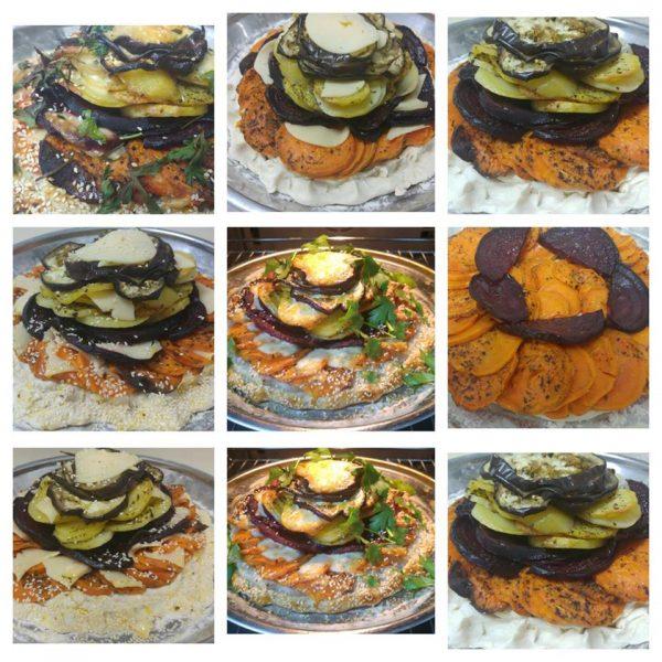 פלטת ירקות וגבינות בתנור