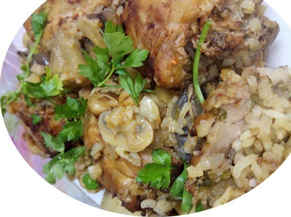 פרגיות ממולאות אורז ובשר טחון