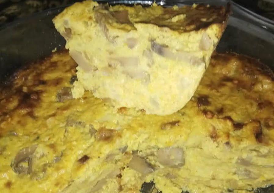 פשטידת כרובית ופטריות בריאה ודיאטתית