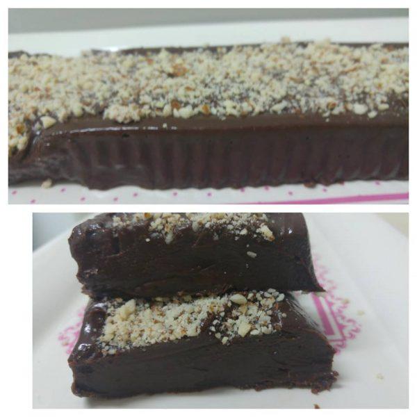 קוביות פאדג' שוקולד משני מצרכים בלבד