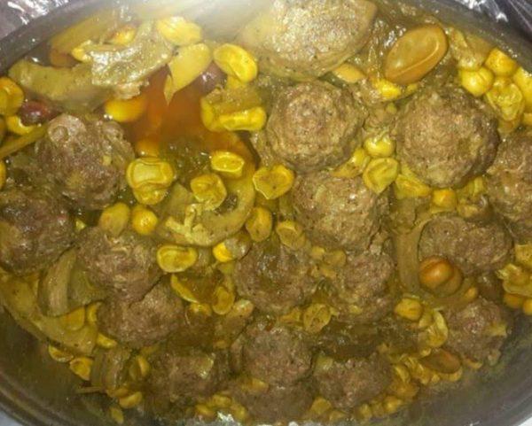 קציצות בשר עם שומן כבש , פול וארטישוק