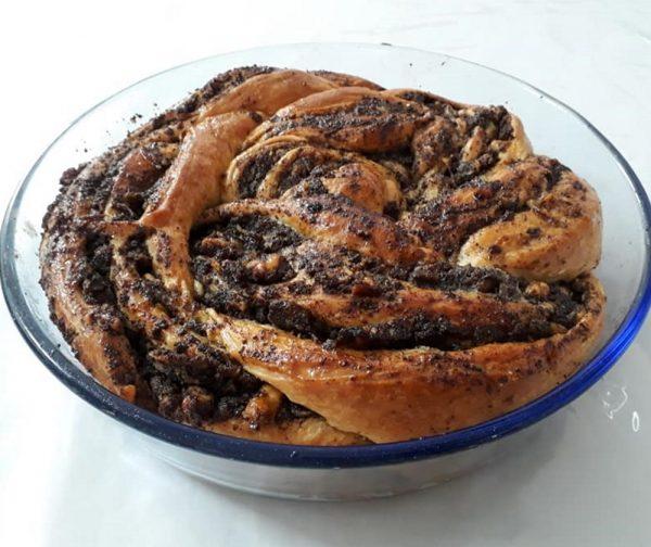 רולדות שמרים במילוי שוקולד /פרג