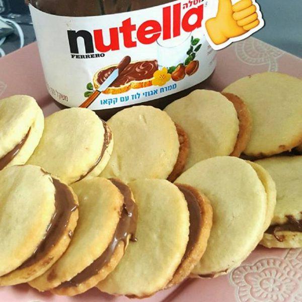עוגיות חמאה במילוי נוטלה
