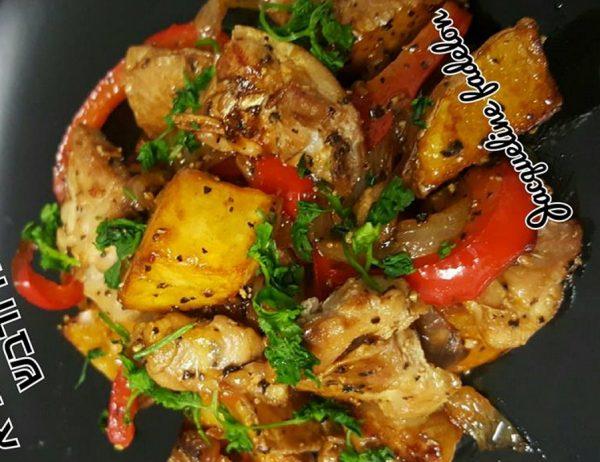 פרגיות עם תפוחי אדמה, גמבה ודבש