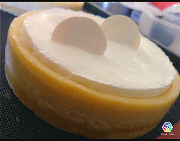 עוגת גבינה וגנאש שוקולד לבן