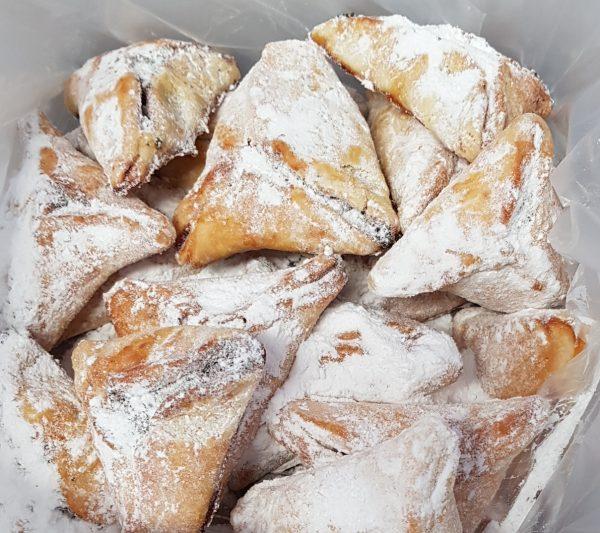 עוגיות אוזני המן במילוי פרג ואגוזי מלך