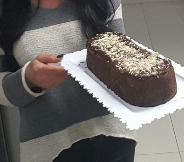 פודינג צרפתי בגרסה שלי עם ציפוי גנאש שוקולד מריר ונוטלה