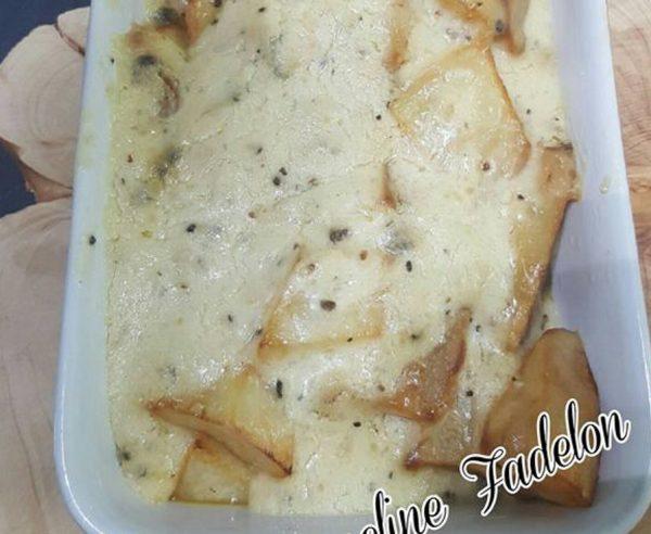 תפוחי אדמה ברוטב שמנת וגבינה פרמזן