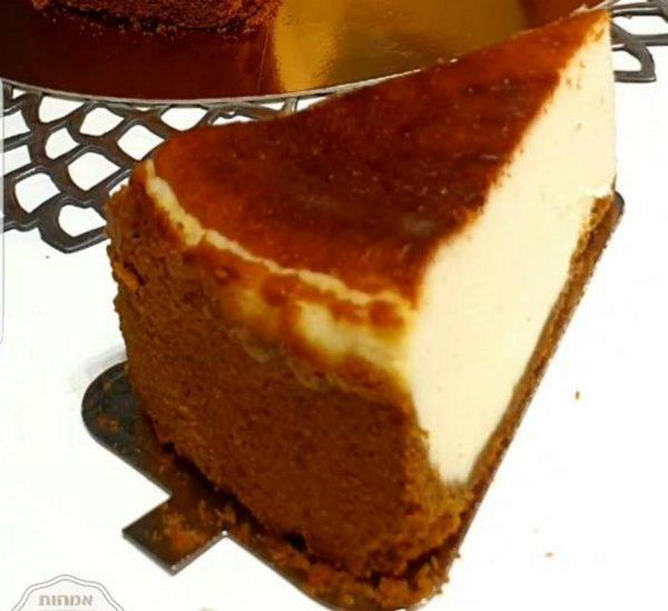 עוגת גבינת נפוליון וגבינת ניו-יורק אפויה