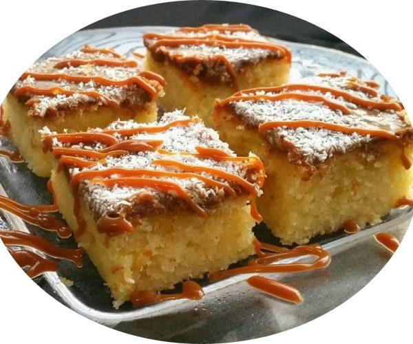 עוגת שמנת קוקוס וריבת חלב חלומית