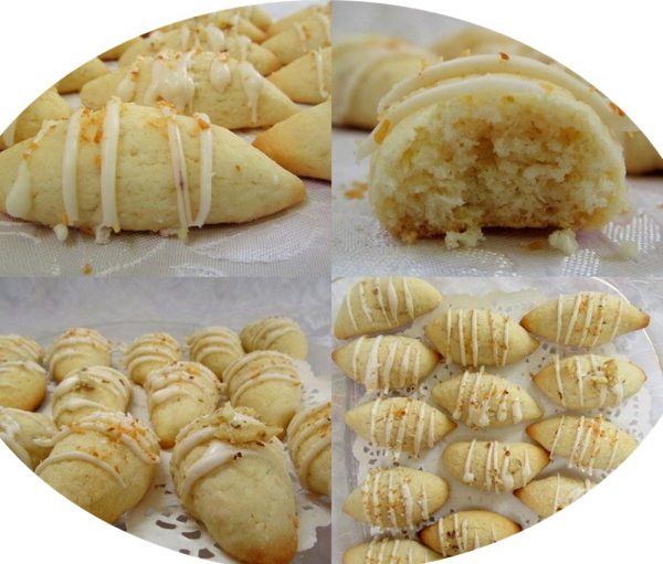 עוגיות חמאה קוקוס ושוקולד לבן