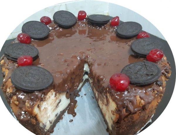 עוגת אוריאו גבינה בציפוי גאנש
