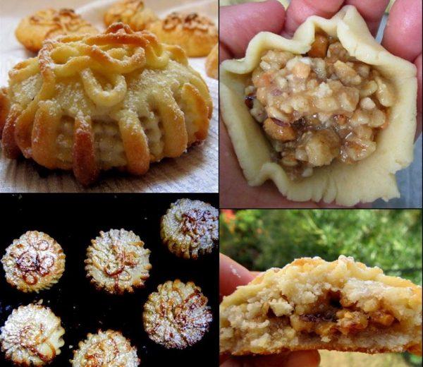 עוגיות ממולאות שקדים ואגוזים