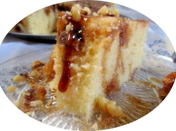 עוגת מייפל בחושה במיקרוגל