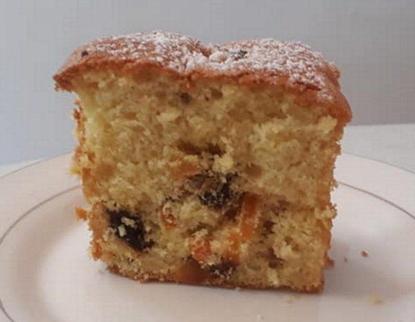 עוגת טורט תפוזים ופירות יבשים