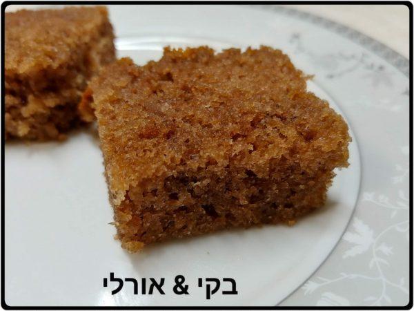 עוגת בראוניז ואגוזים