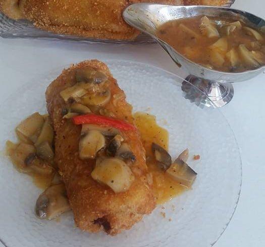 בלינצ'ס במילוי פירה עם פטריות ובצל