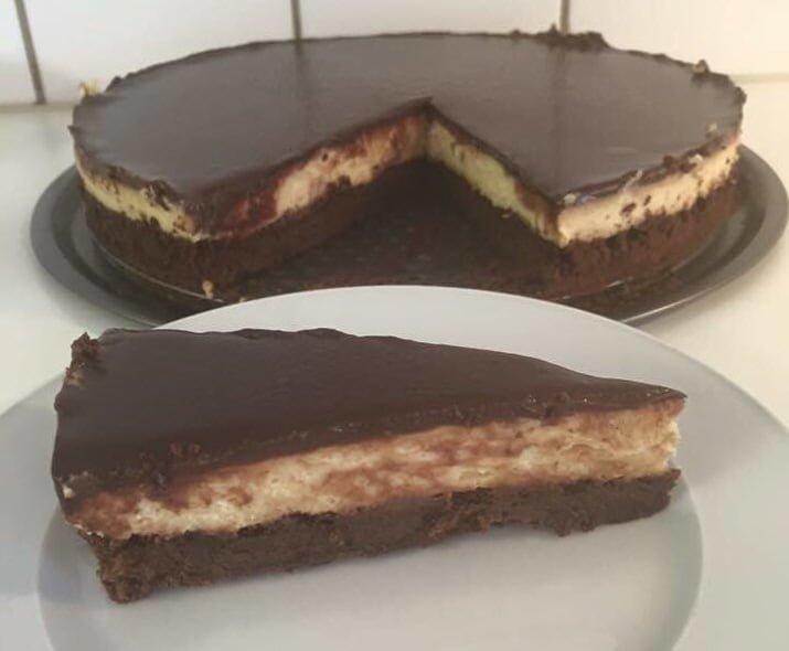 בראוניז קפוצ׳ינו קרם ושוקולד