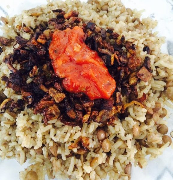 מג'דרה עדשים עם אורז