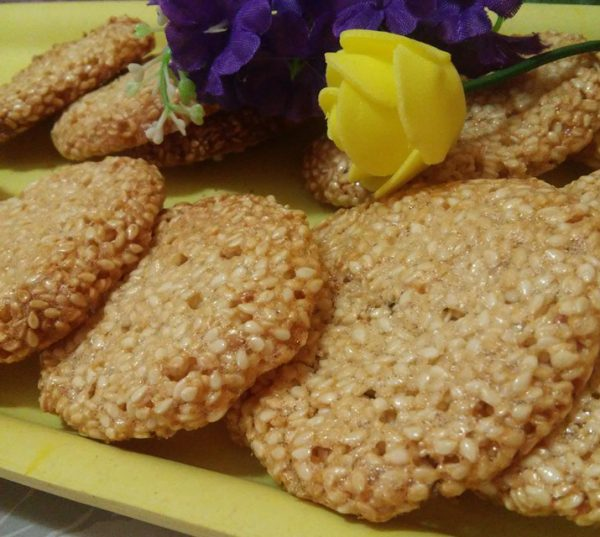 עוגיות שומשום ללא קמח