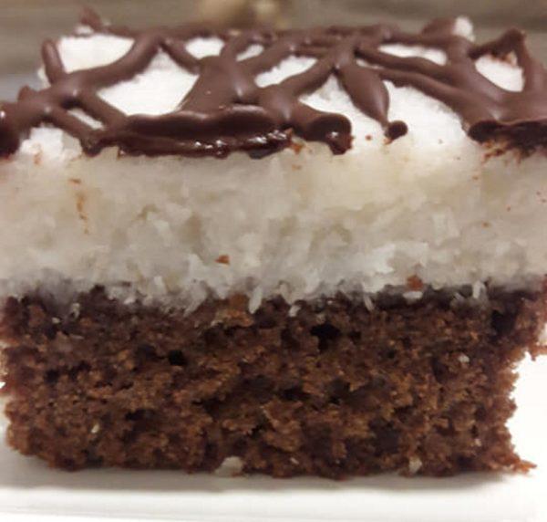 עוגת באונטי שוקולדית פרווה