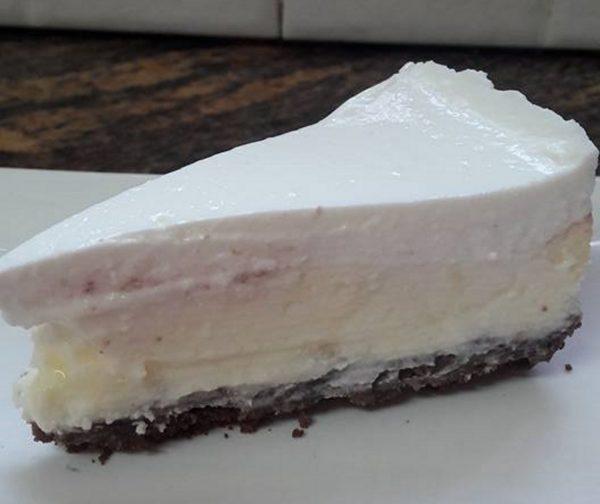 עוגת גבינה אפויה בשלוש שכבות בלי מיקסר