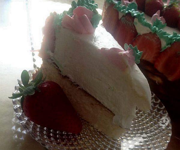 עוגת גבינה אפויה נמוכה