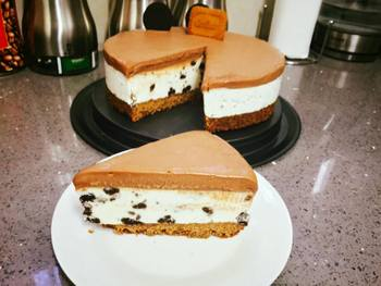 עוגת גבינה עוגיות ונוטלה קרה