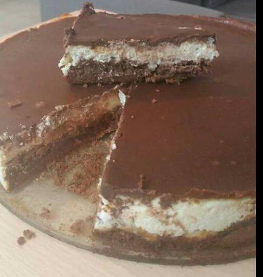 עוגת גבינת שמנת ושוקולד