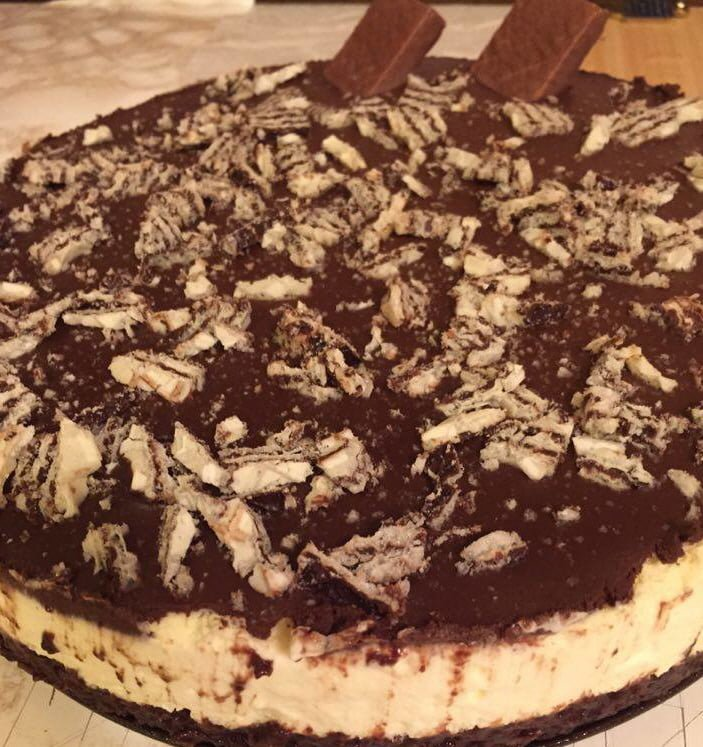 עוגת וופלים ושוקולד