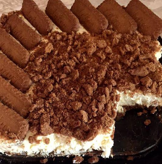 עוגת לוטוס פירורים